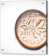 Canadian Penny Acrylic Print