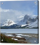 Canadian Rockies Bow Lake Acrylic Print