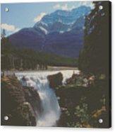 Canadian Rockies Cascade Acrylic Print