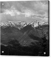 Canadian Rockies Panorama Acrylic Print