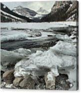 Canadian Rockies Rugged Winter Landscape Acrylic Print