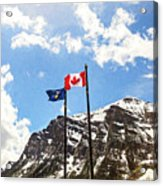 Canadian Rockies - Digital Painting Acrylic Print
