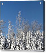 Canadian Winter Panorama Foster Quebec Acrylic Print