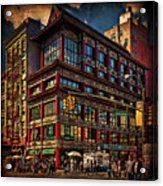 Canal And Center Streets New York City Acrylic Print