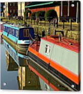 Canal Barges At Gloucester Dock Acrylic Print