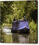 Canal Boat Acrylic Print