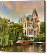 Canal In Amsterdam Acrylic Print