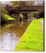 Canal In Oxford England Acrylic Print