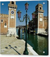 Canal Leading Into The Arsenale Acrylic Print