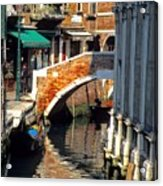 Canal Next To Church Of The Miracoli In Venice Acrylic Print