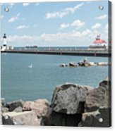 Canal Park In Duluth  Acrylic Print