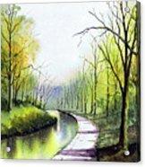 Canal Sowerby Bridge Acrylic Print