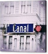 Canal Street In The Big Easy Acrylic Print