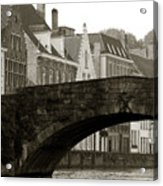 Canal View Of Bruges Acrylic Print