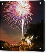 Canal View Of Fire Works Acrylic Print