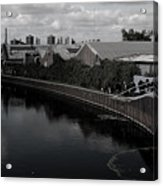 Canal Walk Not On Your Own Acrylic Print