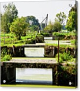 Canals And Bridges Acrylic Print