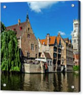 Canals Of Bruges Acrylic Print