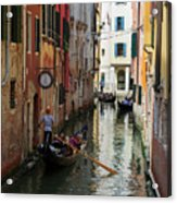 Canals Of Venice Italy Acrylic Print