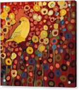 Canary in Red Acrylic Print