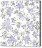 Canary Vine Leaves - Purple And Green Acrylic Print