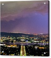 Canberra Stormy Night Acrylic Print