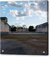 Cancun Mexico - Chichen Itza - Great Ball Court - Open End Acrylic Print