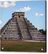 Cancun Mexico - Chichen Itza - Temple Of Kukulcan-el Castillo Pyramid 2 Acrylic Print