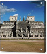 Cancun Mexico - Chichen Itza - Temple Of The Warriors Acrylic Print