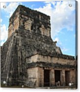 Cancun Mexico - Chichen Itza - Temples Of The Jaguar On The Great Ball Court Acrylic Print