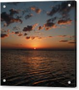 Cancun Mexico - Sunset Over Cancun Acrylic Print