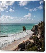 Cancun Mexico - Tulum Ruins - Caribbean Beach Acrylic Print