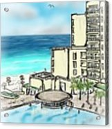 Cancun Royal Sands Acrylic Print