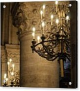 Candelabra At Notre Dame Acrylic Print