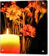 Candle Lit Acrylic Print by Kristin Elmquist