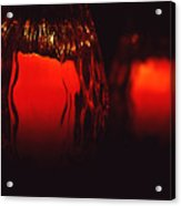 Candle Reflected Acrylic Print