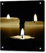 Candle Trio Acrylic Print