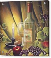 Candlelight Wine And Grapes Acrylic Print