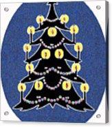 Candlelit Christmas Tree Acrylic Print