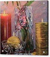 Candlelit Lupins Acrylic Print