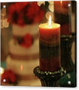 Candles And Cake Acrylic Print