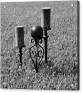 Candles In Grass Acrylic Print