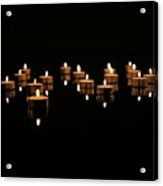 Candles On Black Acrylic Print