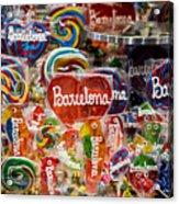 Candy Stand - La Bouqueria - Barcelona Spain Acrylic Print