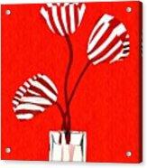 Candy Stripe Tulips Acrylic Print