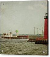 Canim And Milwaukee Pierhead Acrylic Print
