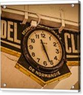 Cannes - Market Clock  Acrylic Print