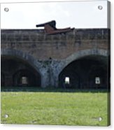 Cannon At Fort Pickens Acrylic Print