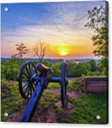 Cannon At Sunset Acrylic Print