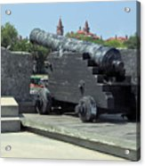 Cannon At The Castillo Acrylic Print